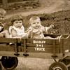 Wayne Jr, Anna and John, circa 1938, at Becker's farm.