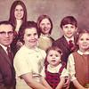 John Schrack family.<br /> Back row: Yvonne, Dawn and Kevin.<br /> Front row: John , Edna, Denise and Karen.<br /> 1972