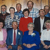Wayne & Vera's children and their spouses at their 60th anniversary. Front Row: Dennis Haag (husband of Betty), Betty, Wayne (Sr.), Vera (Naftzinger), Marie, John (husband of Marie). Back row: Michael, Kathy (Bechtel, wife of Michael), Gayle (?), wife of Daniel, Shirely (Feick), wife of Wayne Jr.), Wayne Jr., Anna, Harold Reinhart (husband of Anna), Norman, John, Edna (Stricker, wife of John), Beryl (Yocom, wife of Elmer), Elmer.