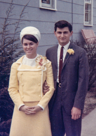 Easter, 1965. Pat and Ben heading to longwood Gardens with Pat's parents. Her mom made her suit.