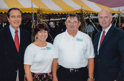 Pat and Ben with Senator Mike O'Pake, now deceased.