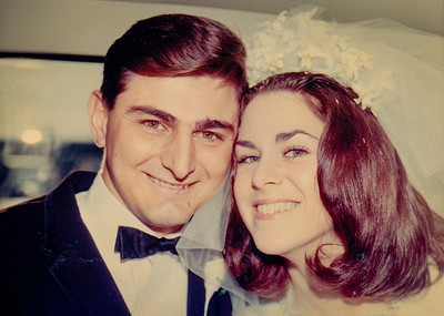 Ben & Pat, married March 26, 1967. My parents paid for our entire wedding. My mom had started selling clothing Dutch Maid, to make extra money. The wedding was everything we had hoped for. Ben's dad had the rehearsal dinner party at his house the night before. It was great! We got married on Easter Sunday because it was the only day open at 'The Barclay Hotel' for the reception, in Belmer, NJ, and I fell in love with it as soon as I saw it.