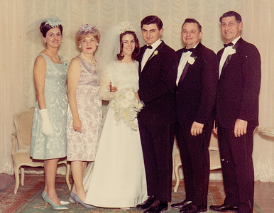 Ben's mom, Pat's mom, Pat & Ben, Ben's dad, Pat's dad. Married March 26, 1967.