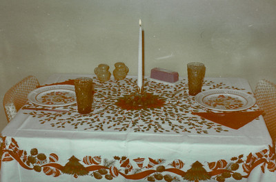 Our apartment in Minot, SD (June '69 - April '70). I think that was our Christmas dinner table setting - just the two of us.