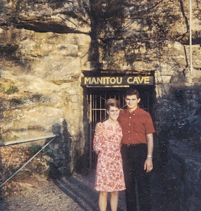 Ben and Pat on their honeymoon, in Alabama, 1967. (Their motel was $14.00 per night).