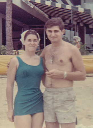 February 14, 1969  -  spent three wonderful weeks in Hawaii - Ben on R&R from Korea -  Pat flew there from Brick, NJ,  living with her parents for the year while Ben was oversees.