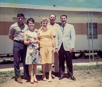 Mr. Newmann, landlord, while Pat's parents were visiting - August 1967