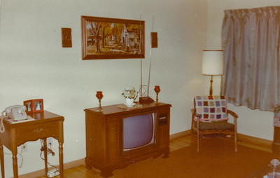 Our apartment in Minot, SD (June '69 - April '70). Brian and Kristin still have that picture.