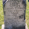Jacob Faust tombstone in St. Michael's Church old cemetery, near Hamburg PA. Tombstone is near a cherry tree near the house. Born 15 Nov 1818, died 22 Jan 1892. Son of Phillip  and Christina (Lehr) Faust. Husband of Lydia Kline (Klein).