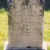 Lydia Kline (Klein) Faust tombstone in St. Michael's Church old cemetery, near Hamburg PA. Tombstone is near a cherry tree near the house. Born 17 March 1825, died 12 Feb 1889. Daughter of Heinrich Kline (Klein) and Hannah Seaman Kline (Klein).