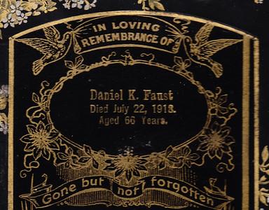 Daniel K. Faust, memorial card.