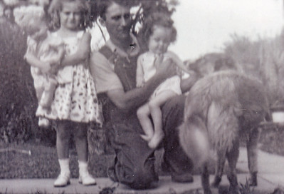 Charles with Marilyn and Leanna.