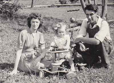 Charles and Meda with their oldest daughter Marilyn.
