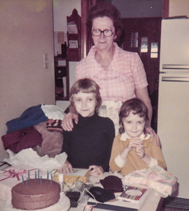 Meda with Carlyn & Doreen. They always loved time spent with their grandma.