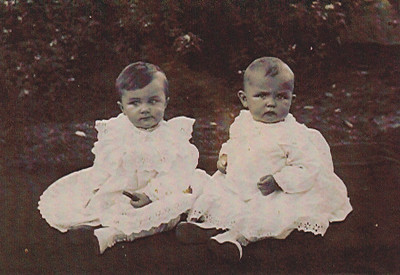 (L to R) Charles and Wayne Schrack (twins) 1915