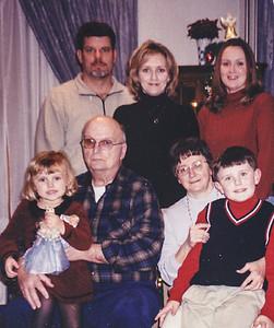 2003. Back row: Philip Krall, Carlyn Krall, Doreen Kreiner. Front row: Lauren Krall, Carl Kreiner, Marilyn Kreiner, Ethan Krall.