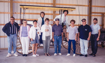Front: Mike Schrack, Mary Bender, Kathy Schrack, Beryl Schrack, Elmer Schrack, Leanna & Barry Light and Kevin Schrack. Back: Anna Reinhart & Betty Haag.  May 14, 2000