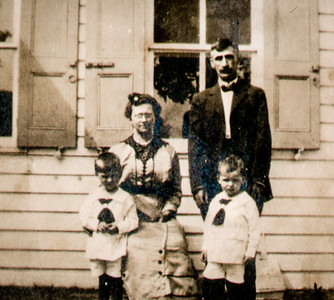 Charles and Katie Schrack with sons Wayne and Charles.  When and where??