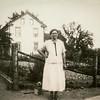 Katie Schrack, at her house, circa 1923.