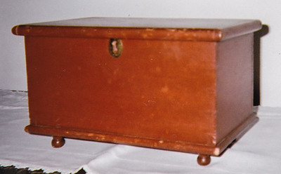 This small chest belonged to Katie Schrack, where she kept special mementos.