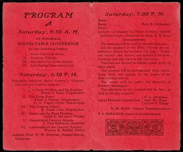 Graduation Program (inside), 1914.