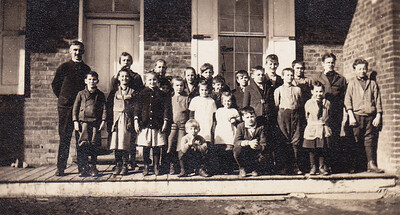 Charles H. Schrack with his class. Anyone know which school house? Miller, Wagner or Groff???