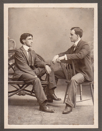 Charles H. Schrack (left), with ???, date???