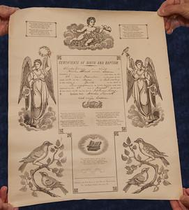 Charles Schrack baptism cirtificate.