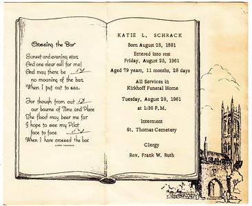 Katie L. (Faust) Schrack, 1881 - 1961