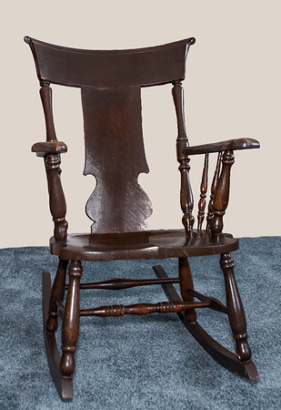 Charles H. Schrack's rocking chair. Meda used to rock Leanna in this chair when she was a baby.