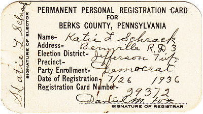 Katie Schrack Registration Certificate