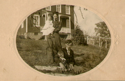 Charles & Katie Schrack with sons Clarance & John.