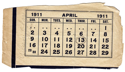 Katie grieved very deeply for Clarence, keeping every memento of his young life, including this calendar that she marked the day Clarence died.