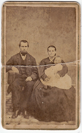 This old image was found with other old Schrack family images.  These could be relatives or friends.   If anyone has any idea who this is, please contact Beth (using email with this web site.)  Thank you very much!