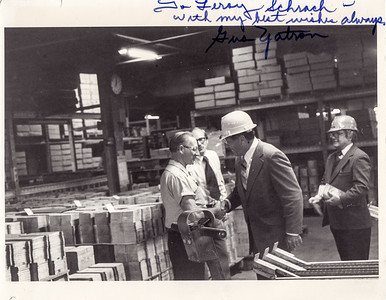 Leroy worked at Deka (Fleetwood, Pa). Hand writing: 'To Leroy Schrack - with my best wishes always. Gus Yatron.' (PA representative).