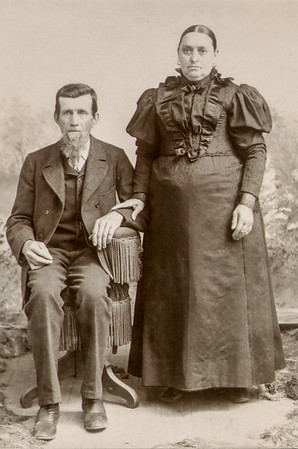 John Adam and Mary Polly (Knoll) Schrack, circa 1877.