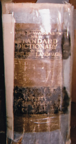 John H. Schrack bought this dictionary in 1923 when he finished at Kutztown. It was one of his prized and heavily used possessions, which can be seen by all the tape he used to hold it together.