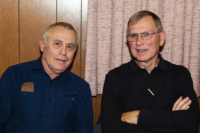 L-R: Elmer Schrack, Myron Schrack.