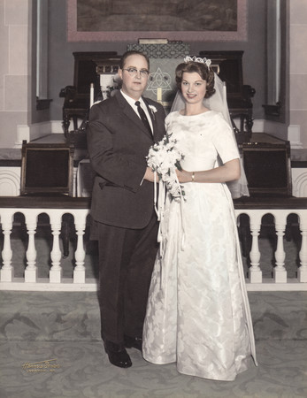 Harvey A. Hill and Dolores E. (Schrack) on their wedding day.