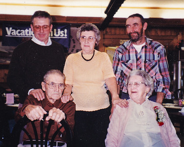Schrack family.  Robert, Mary and David (back) with their parents (front) Roy and Mae (Troutman).