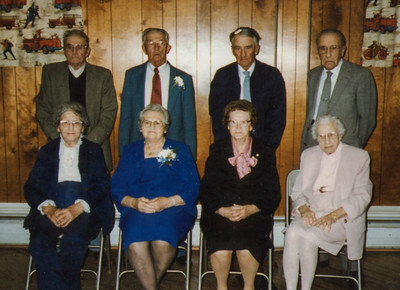 The 4 Schrack brothers and their wives: Roy & Mae, Wayne & Vera, Charles & Meda, John & Florence. (Wayne and Vera's 65th Anniversary, at the Strausstown Fire Co.)