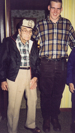 Roy Schrack with his grandson Jeff Kramer. (Mae at right).