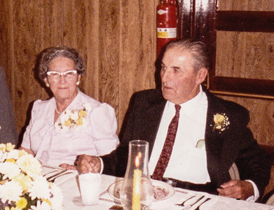 Mae (Troutman) and Roy at their 50th anniversary, Oct 20, 1984.