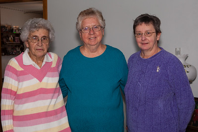 Mary Bender, Beverly Schrack and Marilyn Kreiner. (In Beverly's house).
