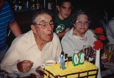 Roy and Mae at his 80th birthday.