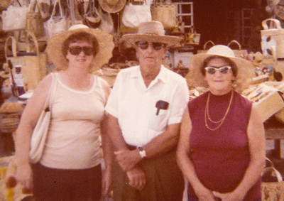Beverly, Roy and Mae, in Florida, 1974, for their 40th anniversary.