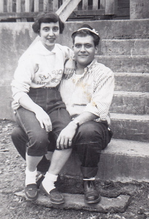 Mary Schrack and Donald Bender, in 1957, a year prior to their wedding.