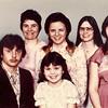 John Schrack family. Back row: John, Edna, Dawn, Yvonne and Karen. Front row Kevin and Denise. 1980