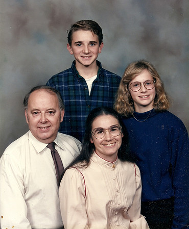 Barry Emerich family. Back row: Chad and Stacy.  Front row: Barry and Yvonne. 1993