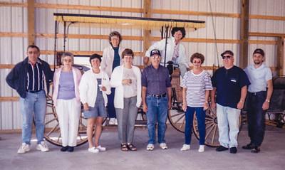 Front: Mike Schrack, Mary Bender, Kathy Schrack, Beryl Schrack, Elmer Schrack, Leanna & Barry Light and Kevin Schrack. Back: Anna Reinhart & Betty Haag.  May 14, 2000